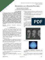 A Survey on Biometrics as a Security Provider