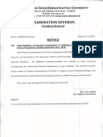 Notice - B.tech (Affilated) (Practical)