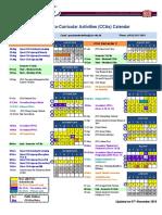 2018-19 CCA Schedule (Calendar) - Updated on 07 November 2018