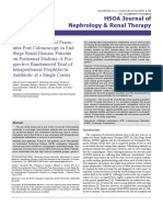 Evaluating the Risk of Peritonitis Post Colonoscopy in End Stage Renal Disease Patients on Peritoneal Dialysis a Prospective Randomized Trial of Intraperitoneal Prophylactic Antibiotic at a Single Center