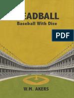 Deadball - Baseball With Dice