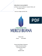 2, SM, Fauzan, Hapzi Ali, Vision and Company Mission, Longterm Objective, Corporate Culture, Corporate Governance, Dan the Agency Theory , Universitas Mercu Buana, 2018