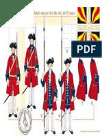 Uniformen - 179 - Le Régiment de Diesbach Au Service Du Roi de France, 1735-1755