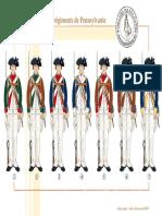 Uniformen - 107 - Les Distinctives Des Régiments de Pennsylvanie, 1777-1778