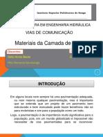 Apresentação Sobre Materiais da Camada de Sub - Base Granular