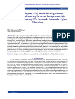 Partial Least Square (PLS) Model Investigation for Determining Influencing Factors of Entrepreneurship Collaborative Learning Effectivenessin Indonesia Higher Education