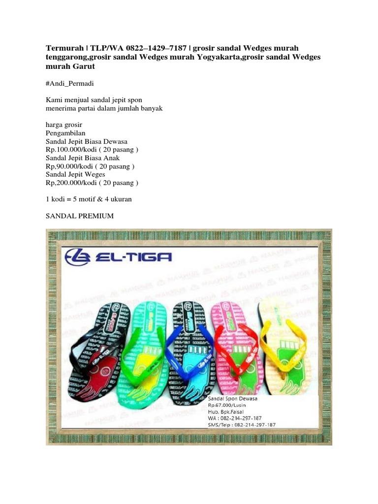 Wedges Sandal Tenggarong Murah Sandal Murah Grosir Grosir Wedges cTF1J3lK
