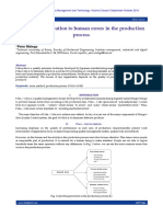 Poka–Yoke – solution to human errors in the production process