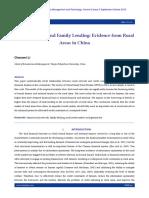 Social Network and Family Lending