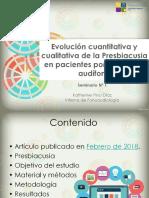 Evolucion de La Presbiacusia en Portadores de Audifono
