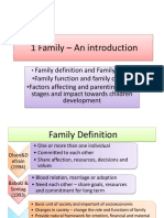1 Family – an Introduction HDPS 2103