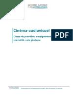 Enseignement de spécialité Cinéma-audiovisuel