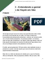 Mises Brasil - Entendendo a Genial Constatação de Hayek Em São Paulo