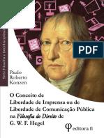 KONZEN - Liberdade de Imprensa e Comunicação Em Hegel