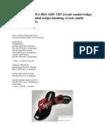 Termurah , TLP/WA 0822–1429–7187 ,Grosir sandal wedges murah, Grosir sandal wedges bandung, Grosir sandal wedges murah pria