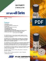10-6. Ultra High Purity Regulator 400 Series (2006)