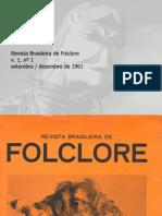 Revista do Folclore N°01 - Setembro a Dezembro de 1961