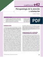 Vallejo, 2015. Cap. 42. Psicopatologia de La Atención y Orientación