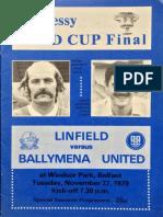 Linfield v Ballymena Utd - Hennessy Gold Cup Final - 28.11.1979