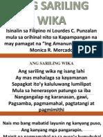 Ang Sariling Wika