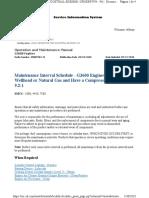 Maintenance Interval Schedule