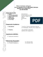 Curriculum de Maria Mendoza