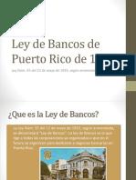 Ley de Bancos de Puerto Rico de 1933