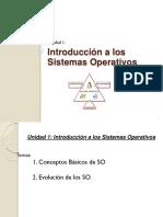 Unidad 1 - Introducción a Los Sistemas de Operativos
