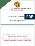 Kuliah 12 Geo Politik Indonesia