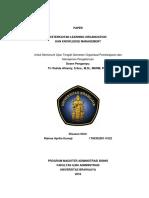 Keterkaitan Learning Organization dan Knowledge Management