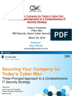 IBM SOLN 3 Prong Approach to Cyber War 3.30.16