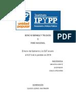 Informe IPYPP sobre el bono del Gobierno