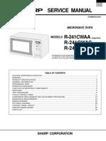 Microondas Sharp R241CWA