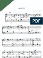 Partition Piano Alouette
