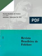 \revista brasileira do folclore N°07 - Setembro a Dezembro de 1963