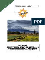 Informe Presupuesto Participativo 2016