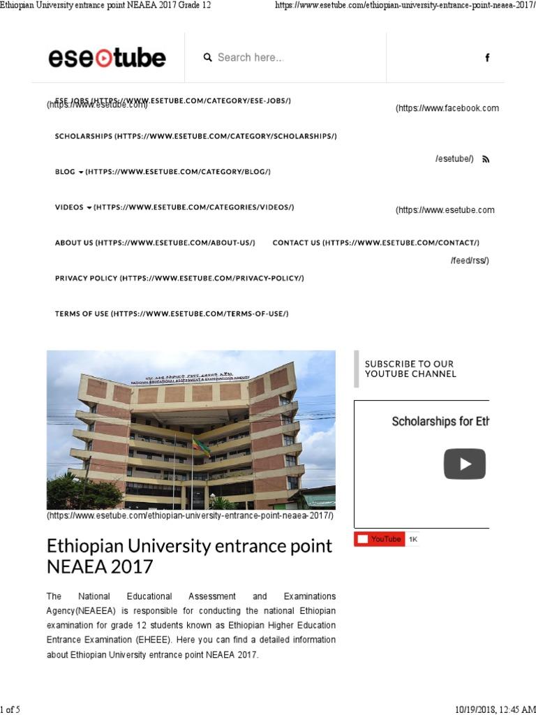 Neaea Grade 12 Result 2018