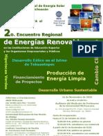 Cartel del 2do encuentro regional de energías renovables Morelia