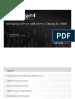 Managing Services With Service Catalog & CMDB