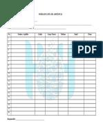 Formato Listado de Asistencia a Capacitacion