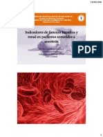 Indicadores de Función Hepática y Renal en Anestesiología 2018