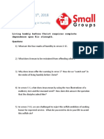 Small Group Question 11.11.18