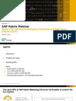 Agility With SAP Hybris Marketing Cloud APIs and SAP Cloud Platform (SCP)