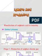 Manufacturing Sulfuric Acid by Contact Process