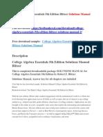 College Algebra Essentials 5th Edition Blitzer Solutions Manual