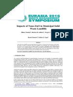 Impacts of Nano-ZnO in Municipal Solid