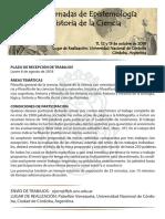 Circular 1 - XXIX Jornadas de Epistemologia e Historia de La Ciencia