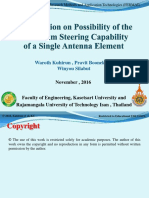 Investigation on Possibility  of the Mainbeam Steering Capability of a Single Antenna Element