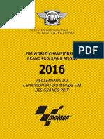 2016 Grand Prix Regulations Version 11.05.2016