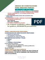 Tarea Academica de Cimentaciones 2018 II Segundo Parcial